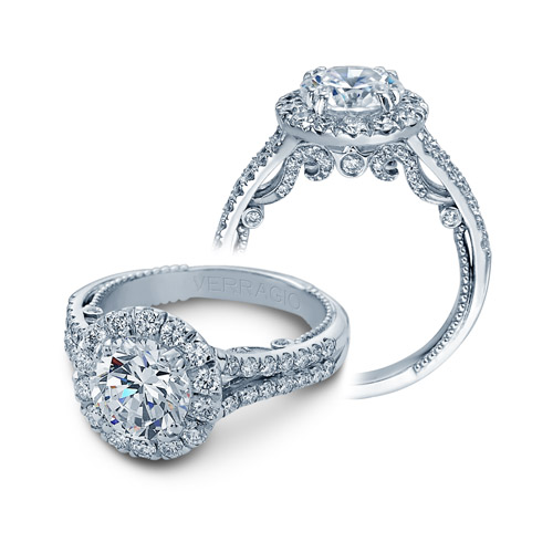 Verragio Insignia-7062RL Platinum Engagement Ring