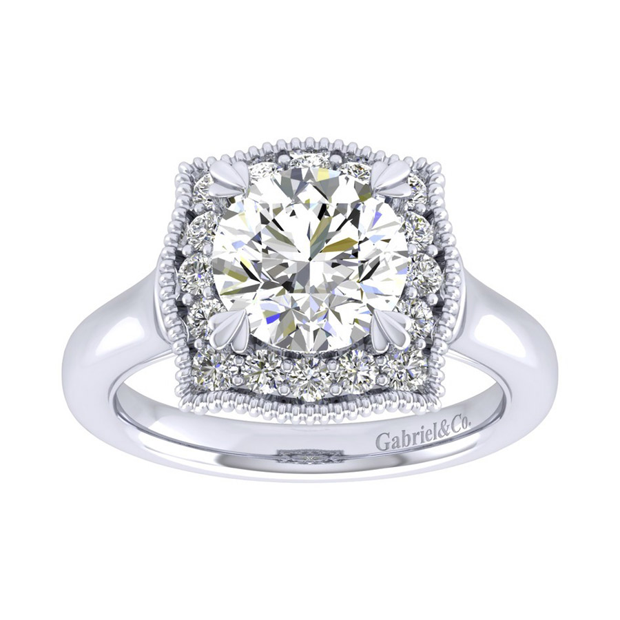 Gabriel 14 Karat Perfect Match Engagement Ring ER009C8AAW44JJ Alternative View 4