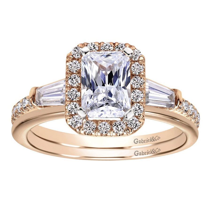 Gabriel 14 Karat Contemporary Engagement Ring ER8354K44JJ Alternative View 3