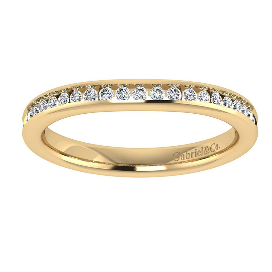 Gabriel 14 Karat Contemporary Wedding Band WB7516Y44JJ Alternative View 4