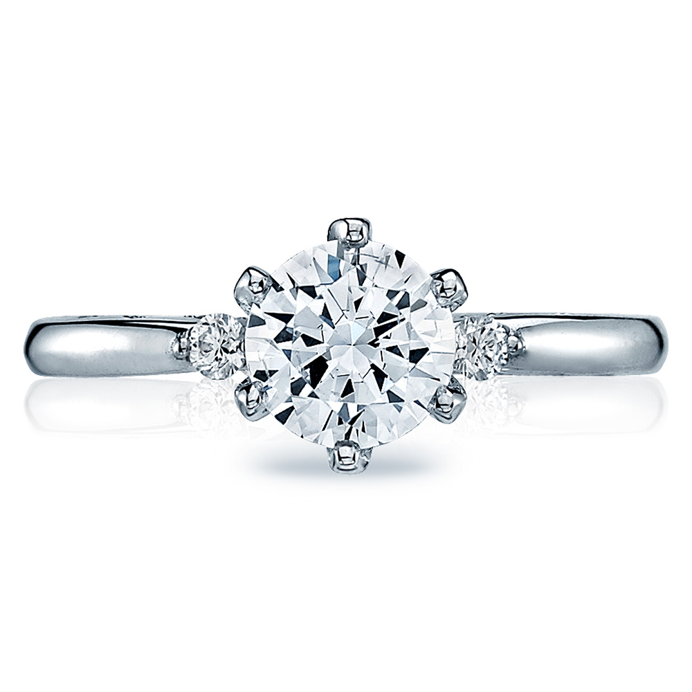 tacori 56 2rd65 18 karat sculpted crescent engagement ring