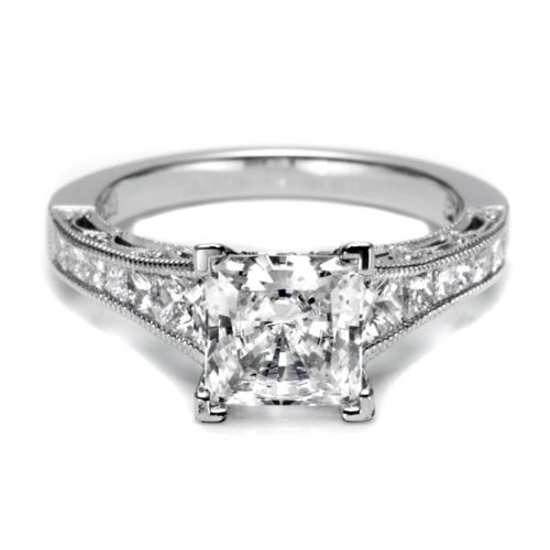 Tacori Platinum Crescent Engagement Ring HT2510PR12X Alternative View 2