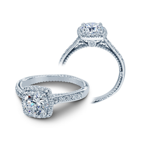 Verragio Venetian-5042CUD Platinum Engagement Ring