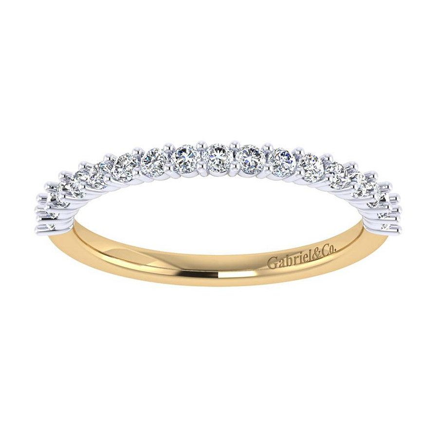 Gabriel 14 Karat Contemporary Wedding Band WB7498M44JJ Alternative View 4