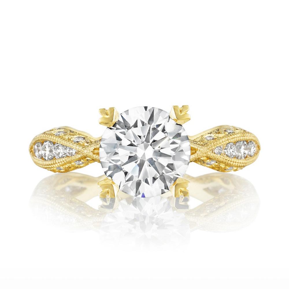 tacori 2578rd8y 18 karat tacori gold engagement ring tq