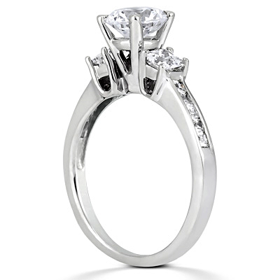 Taryn Collection Platinum Diamond Engagement Ring TQD 4236 Alternative View 2