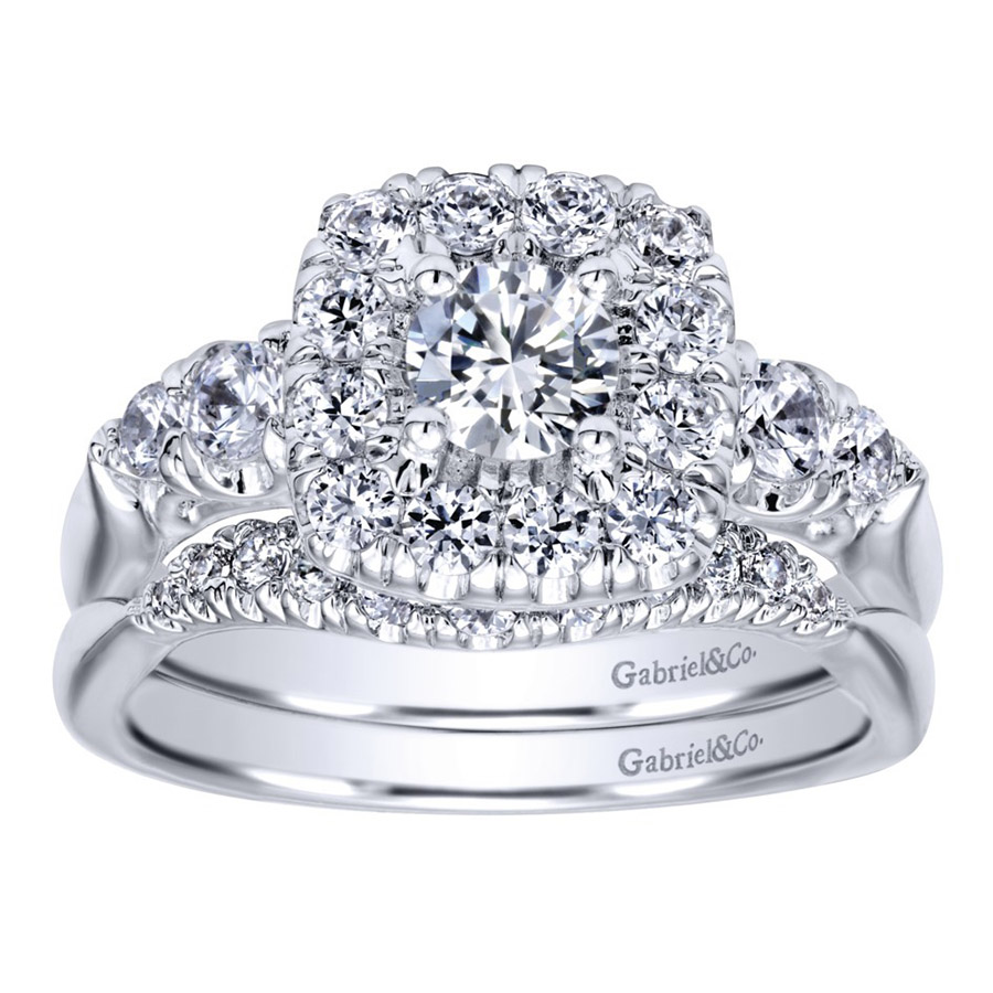 Gabriel 14 Karat Contemporary Engagement Ring ER910292W44JJ Alternative View 3