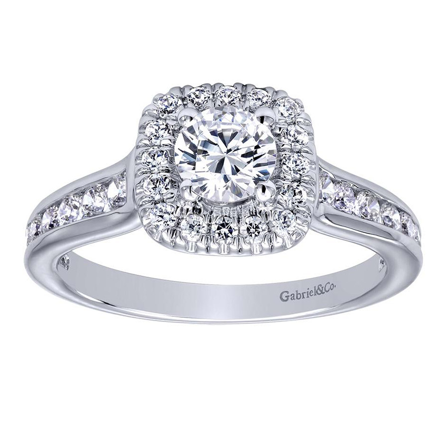 Gabriel 14 Karat Contemporary Engagement Ring ER910136W44JJ Alternative View 4