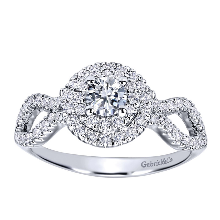 Gabriel 14 Karat Contemporary Engagement Ring ER911598R1W44JJ Alternative View 4