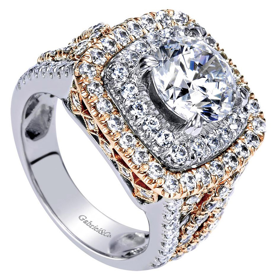 Gabriel 18 Karat Contemporary Engagement Ring ER8467T83JJ Alternative View 2