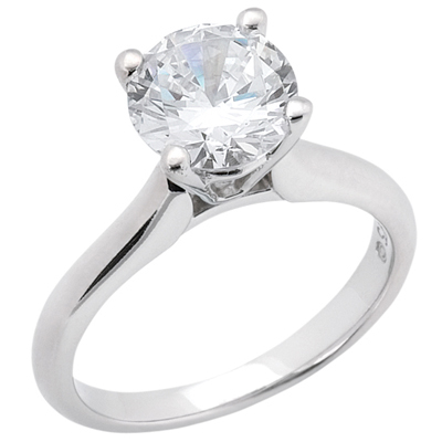 Taryn Collection Platinum Diamond Engagement Ring TQD 6566