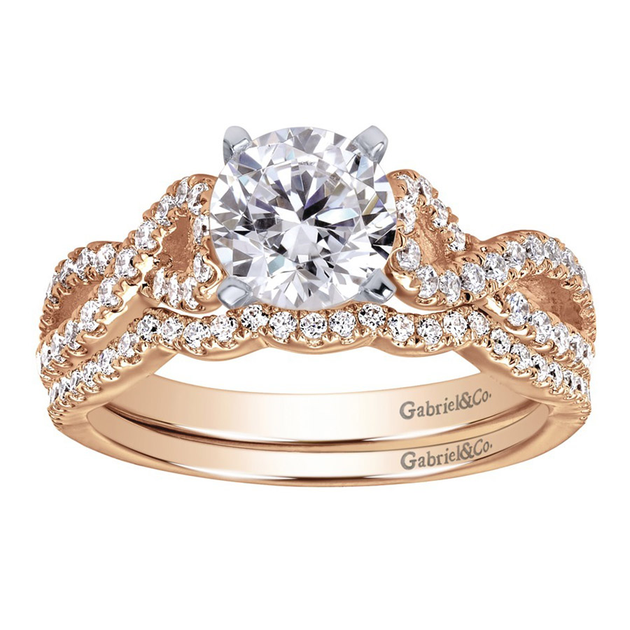 Gabriel 14 Karat Contemporary Engagement Ring ER7805T44JJ Alternative View 3