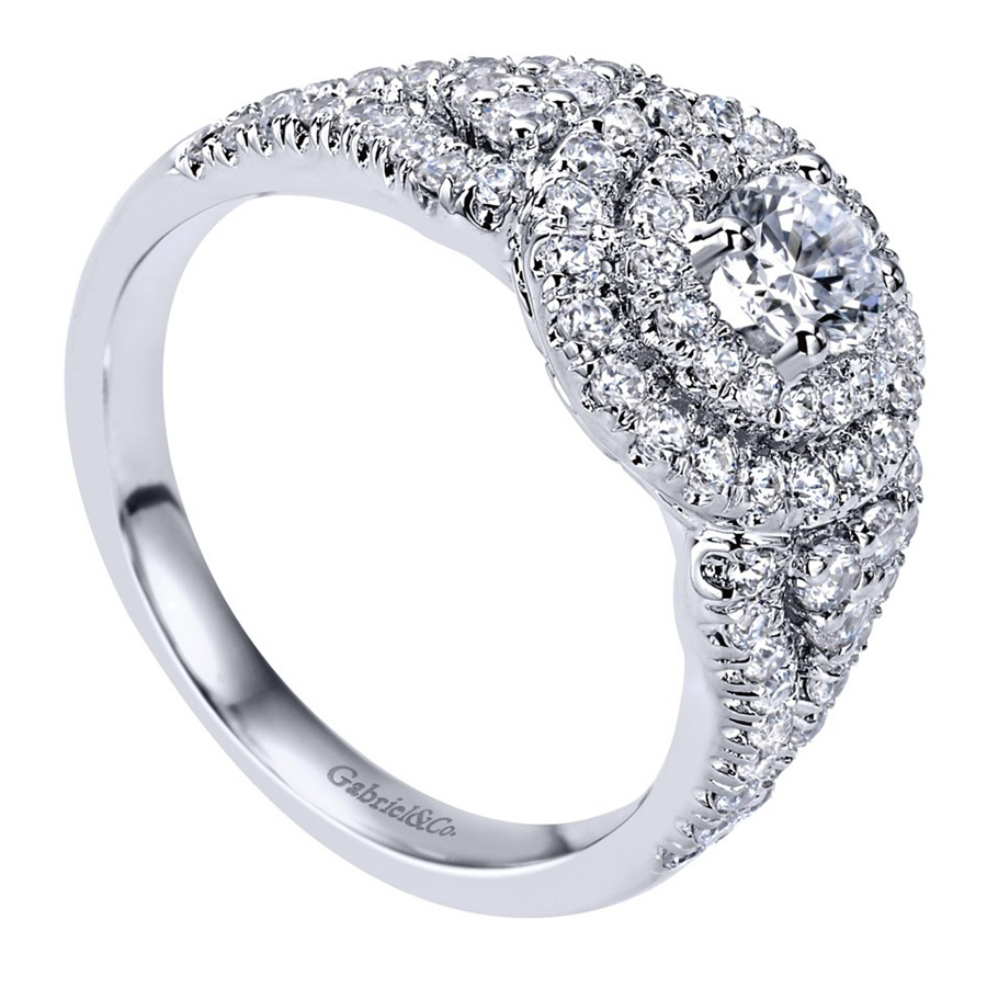 Gabriel 14 Karat Contemporary Engagement Ring ER910145W44JJ Alternative View 2