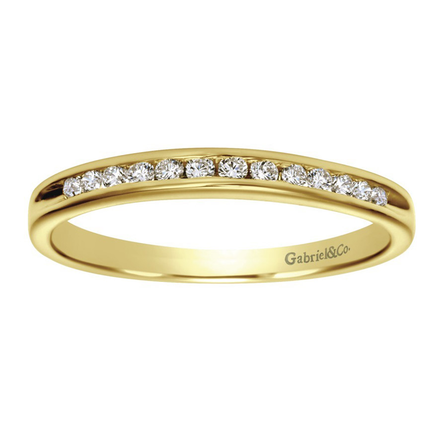 Gabriel 14 Karat Contemporary Wedding Band WB2150Y44JJ Alternative View 4