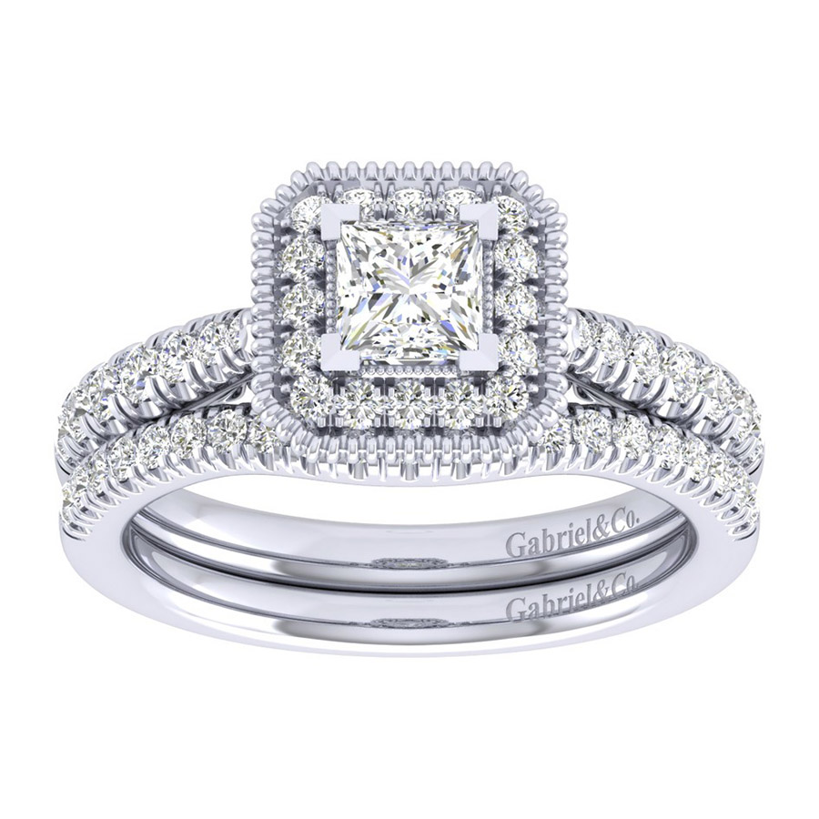 Gabriel 14 Karat Perfect Match Engagement Ring ER039A2ALW44JJ Alternative View 3
