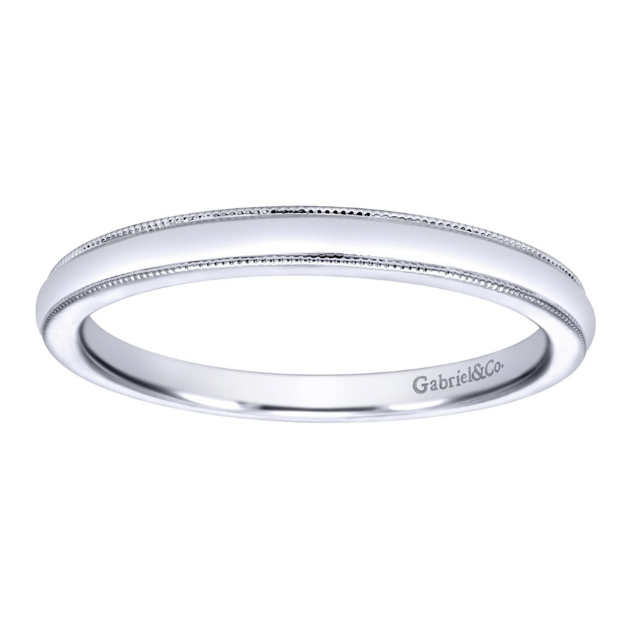 Gabriel 14 Karat Contemporary Wedding Band WB10070W4JJJ Alternative View 4
