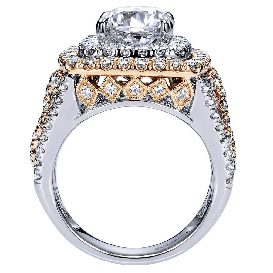 Gabriel 18 Karat Contemporary Engagement Ring ER8467T83JJ Alternative View 1