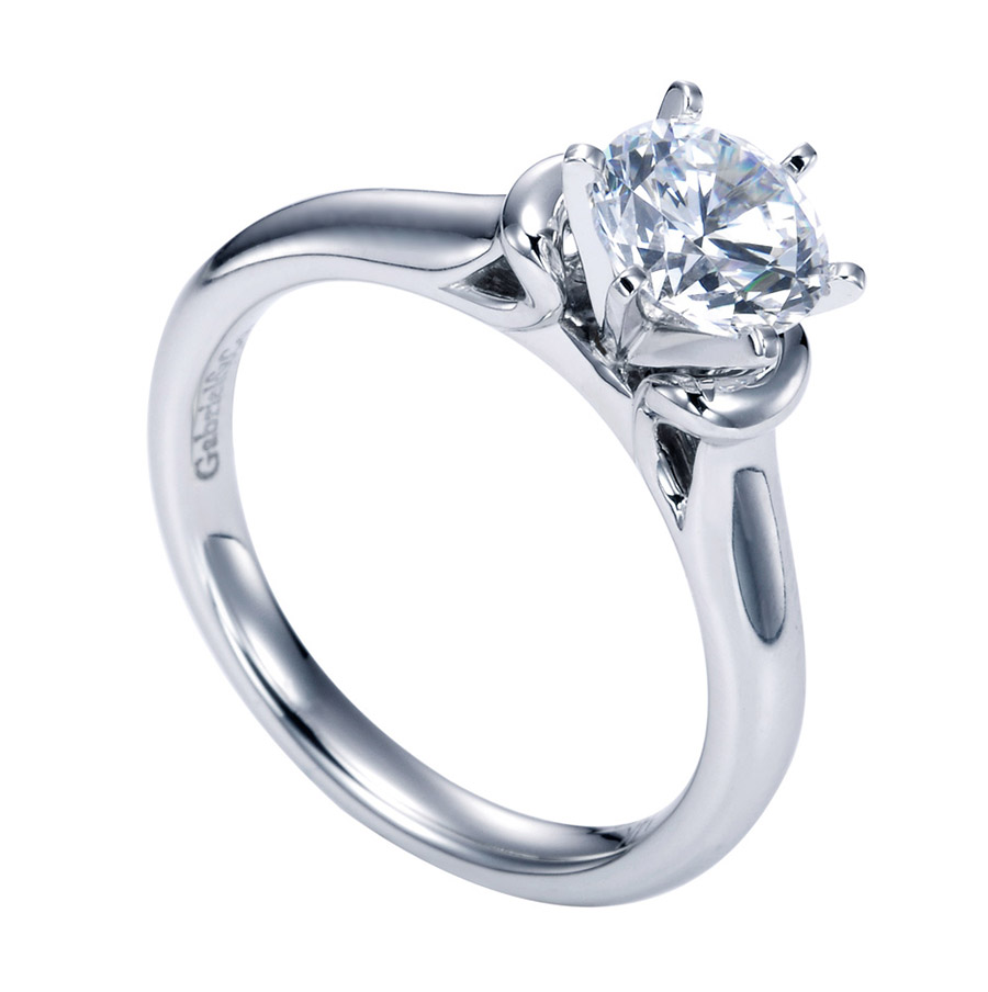 Gabriel Platinum Contemporary Engagement Ring ER6573PTJJJ Alternative View 2