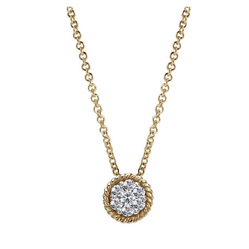 3b2ff30921564 Gabriel Fashion 14 Karat Two-Tone Hampton Diamond Necklace NK2230M44JJ