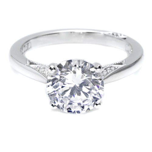 Tacori Dantela Platinum Engagement Ring 2638RD85