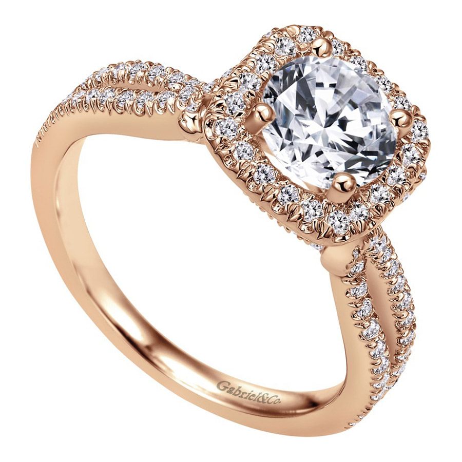 Gabriel 14 Karat Contemporary Engagement Ring ER7806K44JJ Alternative View 2
