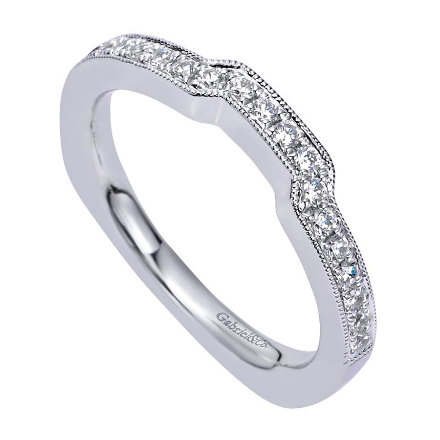 gabriel 14 karat victorian wedding band wb6096w44jj alternative view 2 - Victorian Wedding Rings