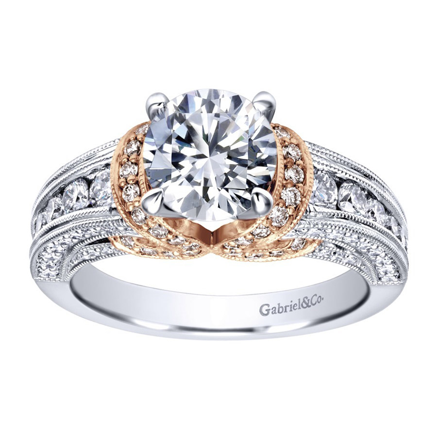 Gabriel 14 Karat Victorian Engagement Ring ER11835R4T44JJ Alternative View 4