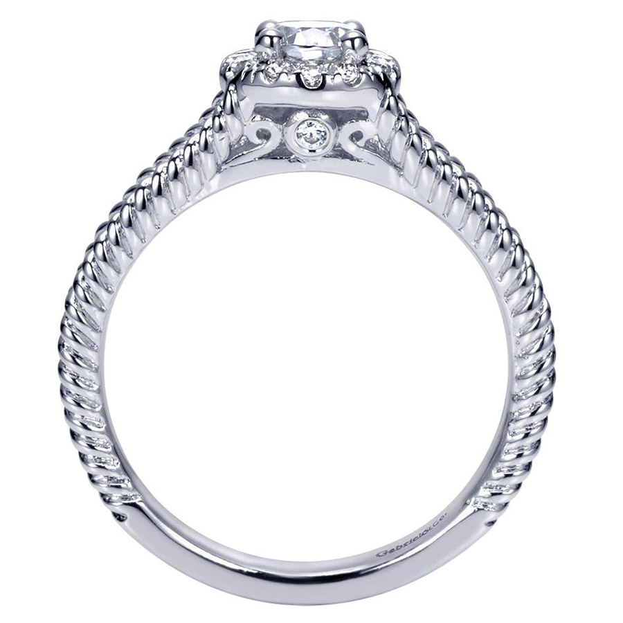 Gabriel 14 Karat Contemporary Engagement Ring ER98653W44JJ Alternative View 1