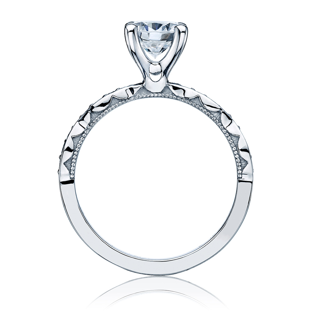 46-2RD65 Platinum Tacori Sculpted Crescent Engagement Ring Alternative View 1