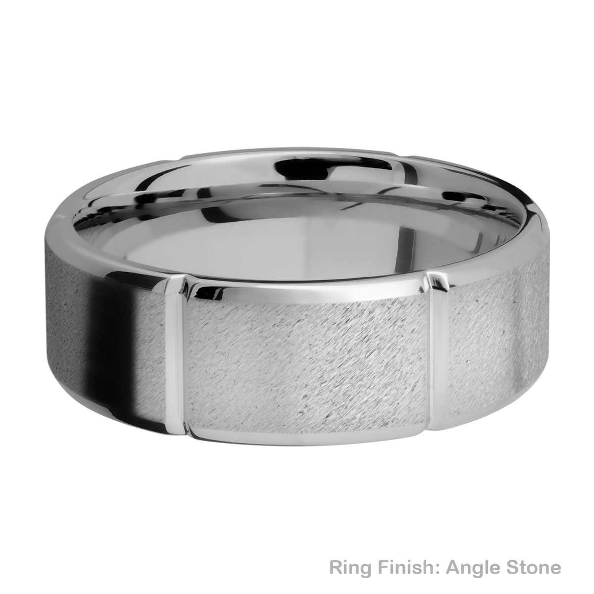 Lashbrook 8B6SEG Titanium Wedding Ring or Band Alternative View 6