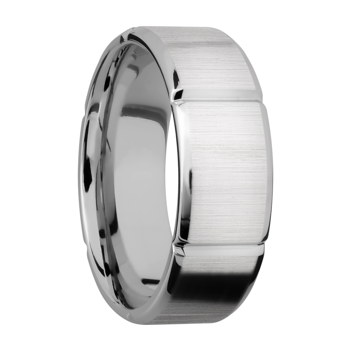 Lashbrook 8B6SEG Titanium Wedding Ring or Band Alternative View 1