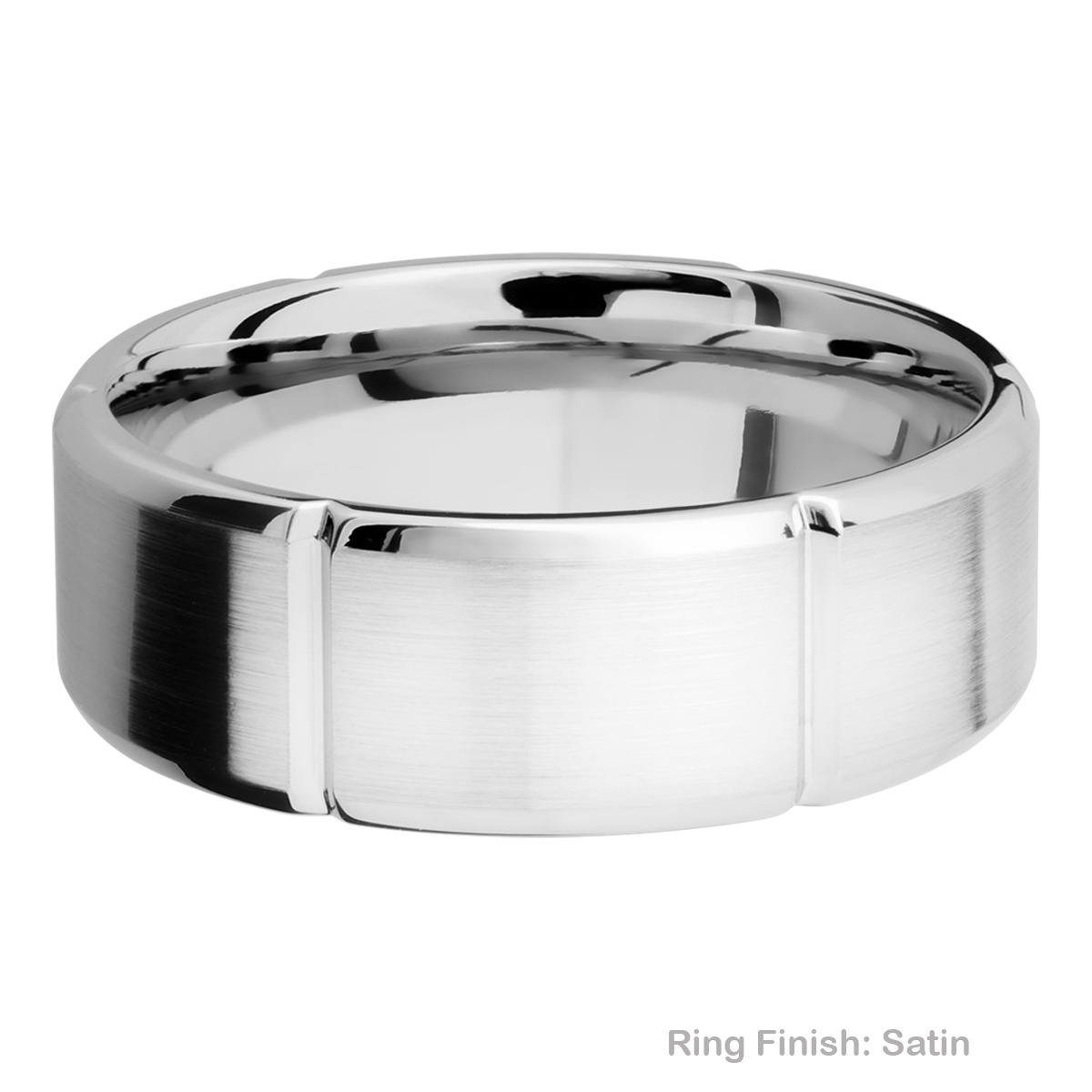 Lashbrook 8B6SEG Titanium Wedding Ring or Band Alternative View 3