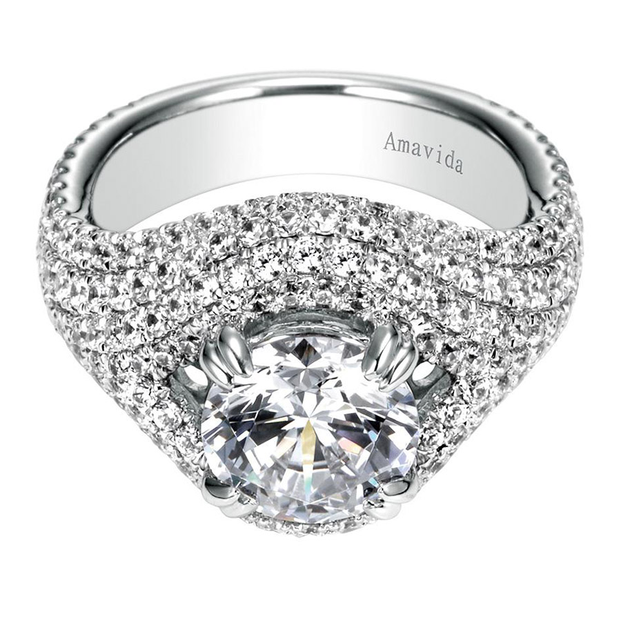 Gabriel 18 Karat Contemporary Engagement Ring ER8339W83JJ