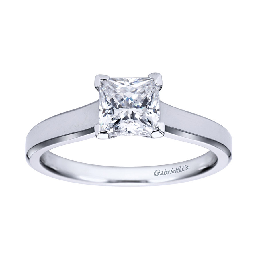 Gabriel Platinum Contemporary Engagement Ring ER6575PTJJJ Alternative View 4