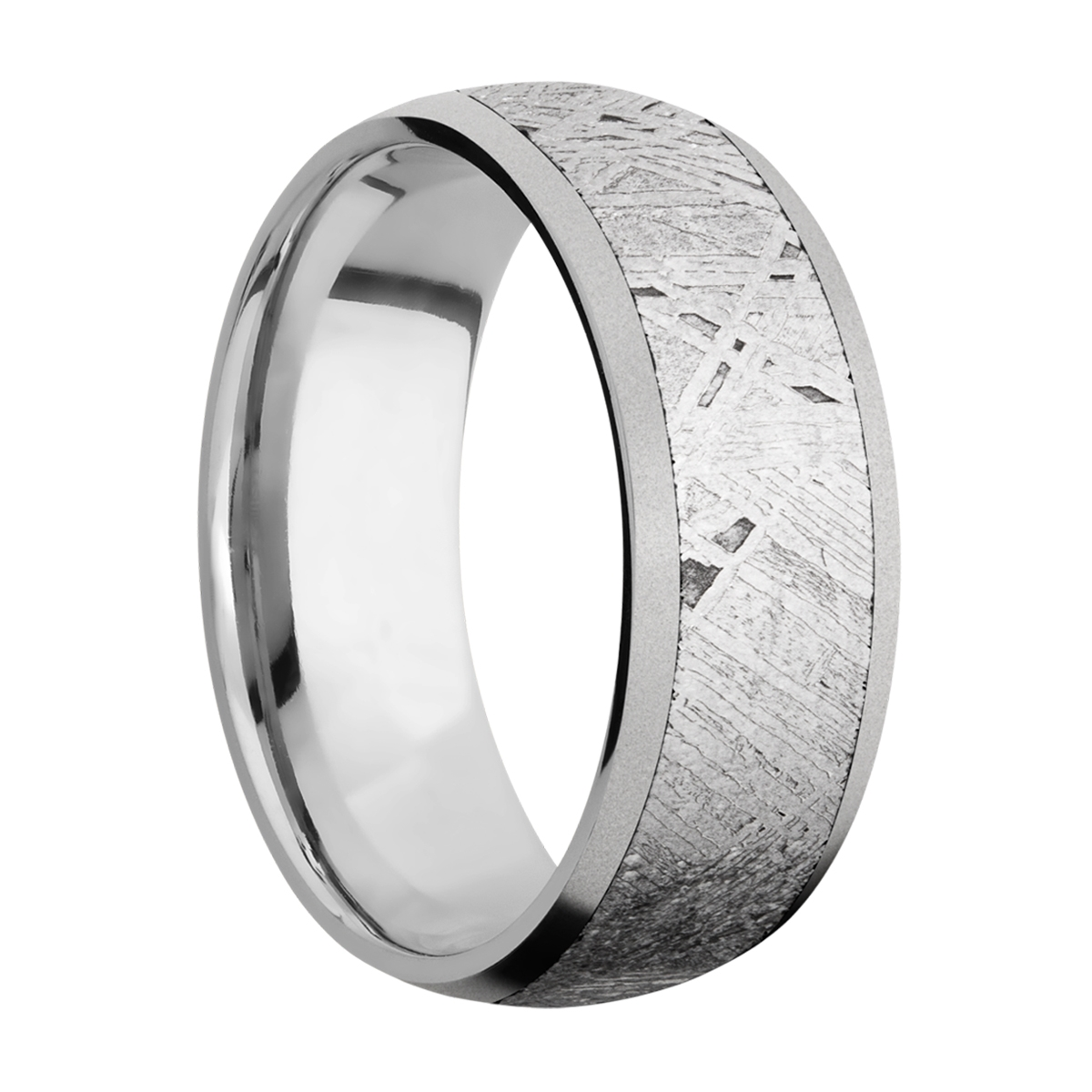 Lashbrook 8D16/METEORITE Titanium Wedding Ring or Band Alternative View 1