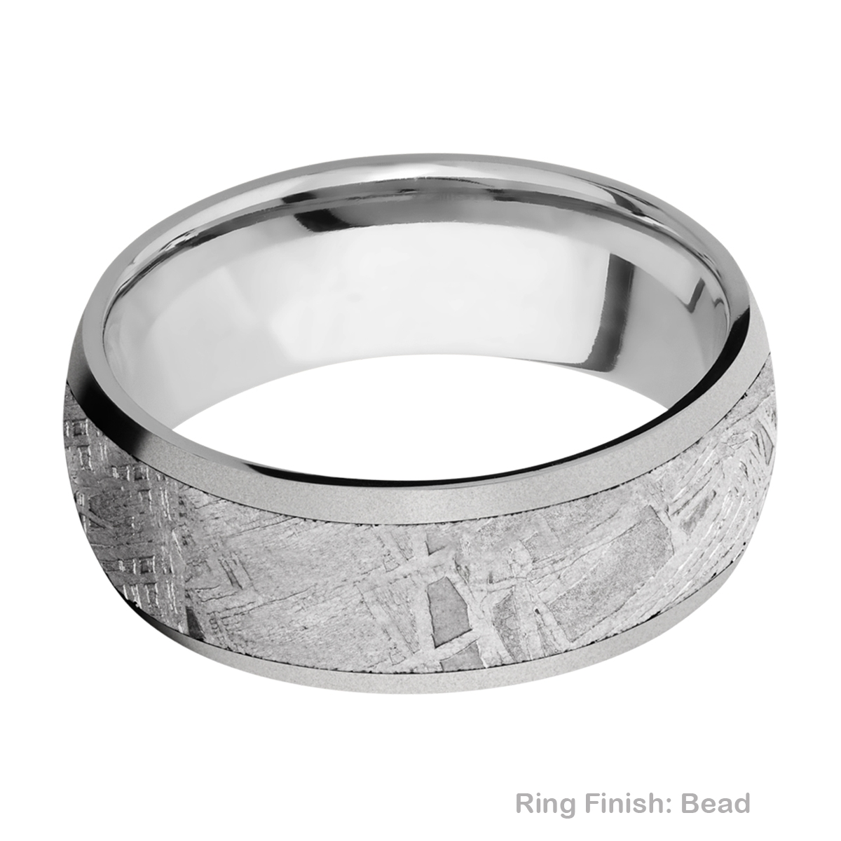 Lashbrook 8D16/METEORITE Titanium Wedding Ring or Band Alternative View 2