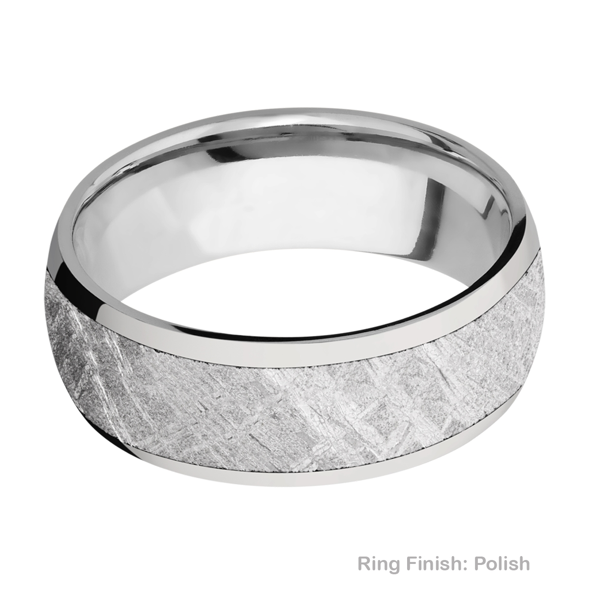 Lashbrook 8D16/METEORITE Titanium Wedding Ring or Band Alternative View 3