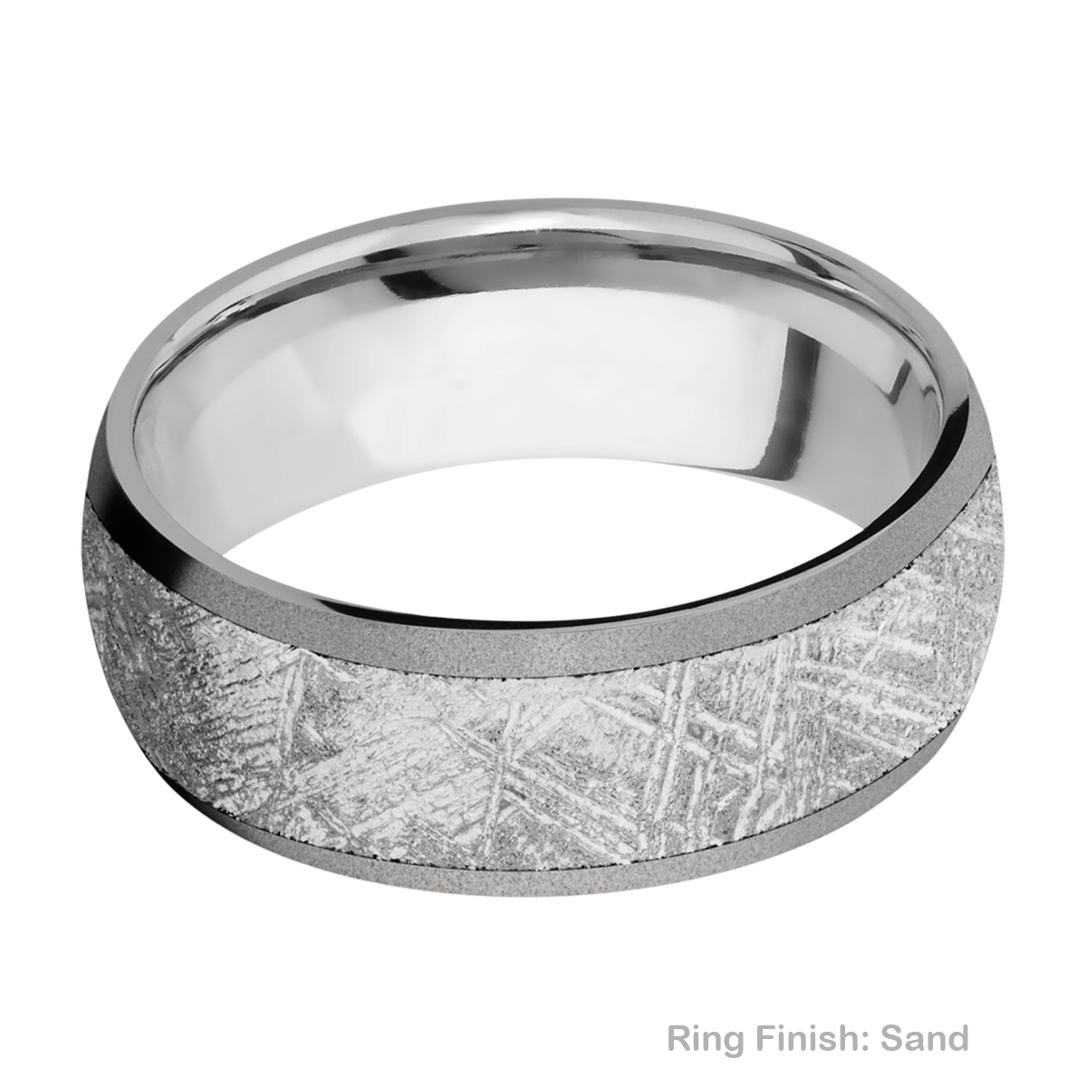 Lashbrook 8D16/METEORITE Titanium Wedding Ring or Band Alternative View 4