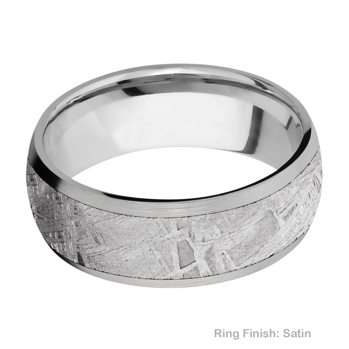 Lashbrook 8D16/METEORITE Titanium Wedding Ring or Band Alternative View 5