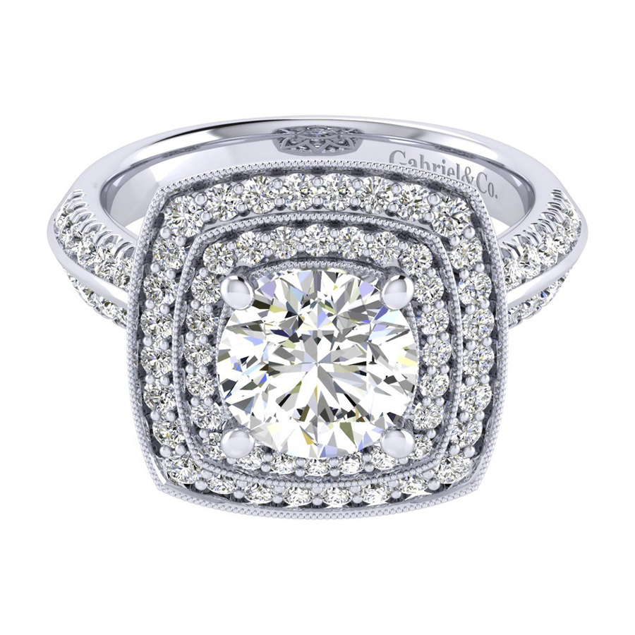 Gabriel 14 Karat Perfect Match Engagement Ring ER002C8AGW44JJ