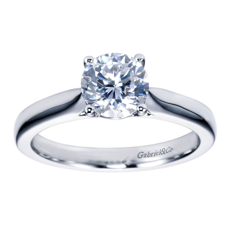 Gabriel Platinum Contemporary Engagement Ring ER6645PTJJJ Alternative View 4