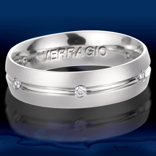 Verragio Platinum Diamond Wedding Band VWD-6903 Alternative View 1