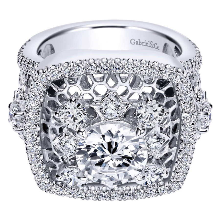 Gabriel 14 Karat Contemporary Engagement Ring ER8469W83JJ