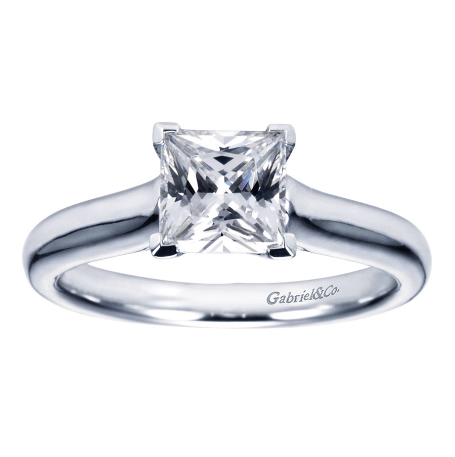 Gabriel Platinum Contemporary Engagement Ring ER6606PTJJJ Alternative View 4