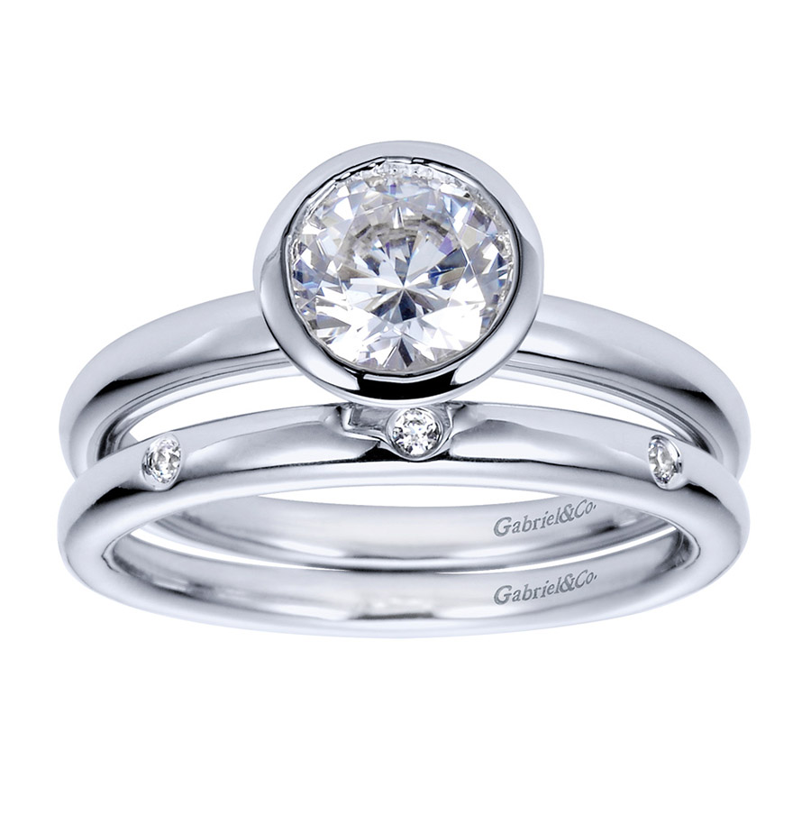 Gabriel Platinum Contemporary Engagement Ring ER8077PTJJJ Alternative View 3