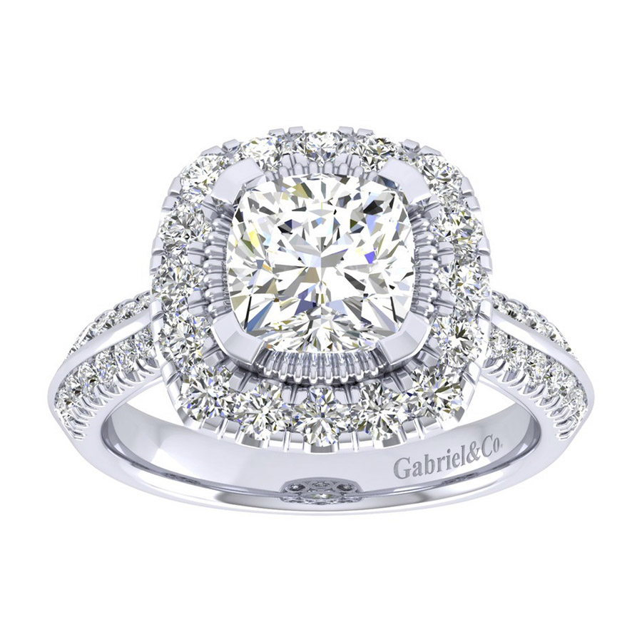 Gabriel 14 Karat Perfect Match Engagement Ring ER002C8AJW44JJ Alternative View 4