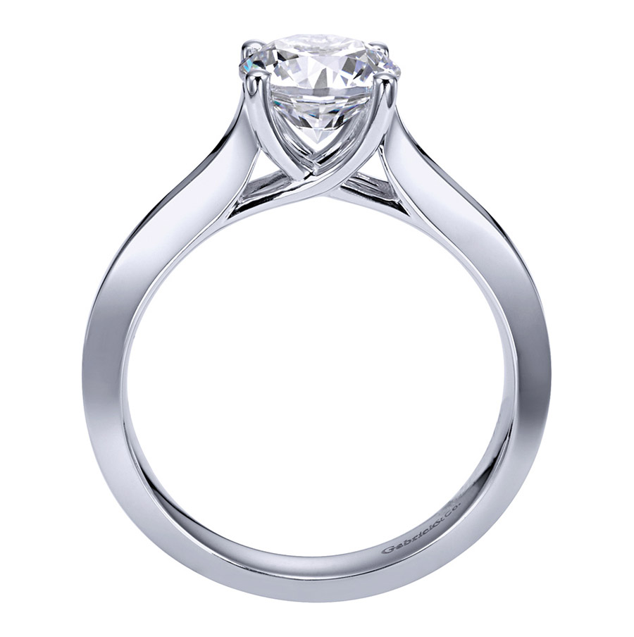 Gabriel Platinum Contemporary Engagement Ring ER6612PTJJJ Alternative View 1