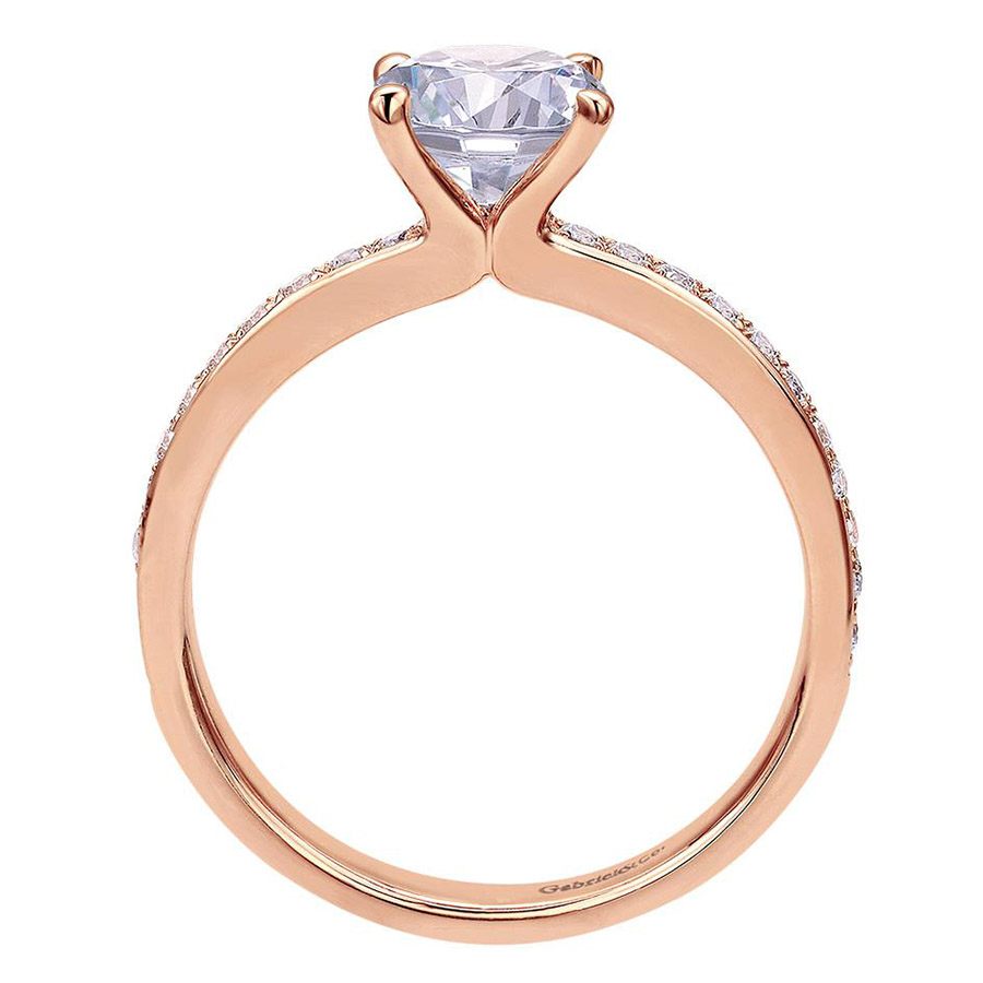 Gabriel 14 Karat Contemporary Engagement Ring ER7537K44JJ Alternative View 1