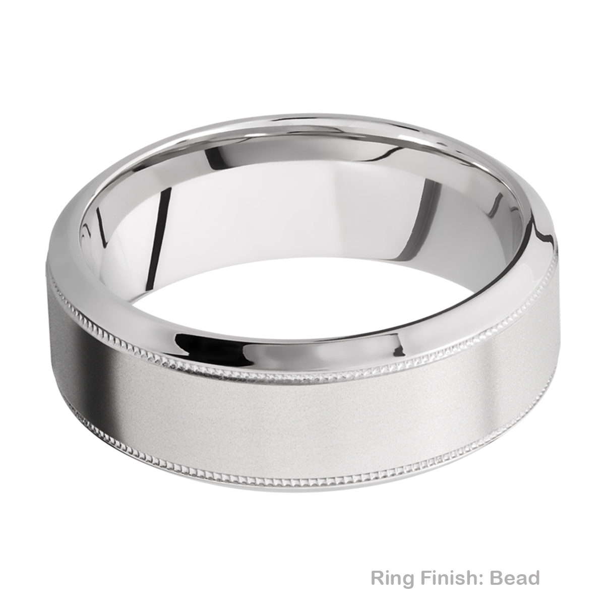 Lashbrook 8HB2UMIL Titanium Wedding Ring or Band Alternative View 3