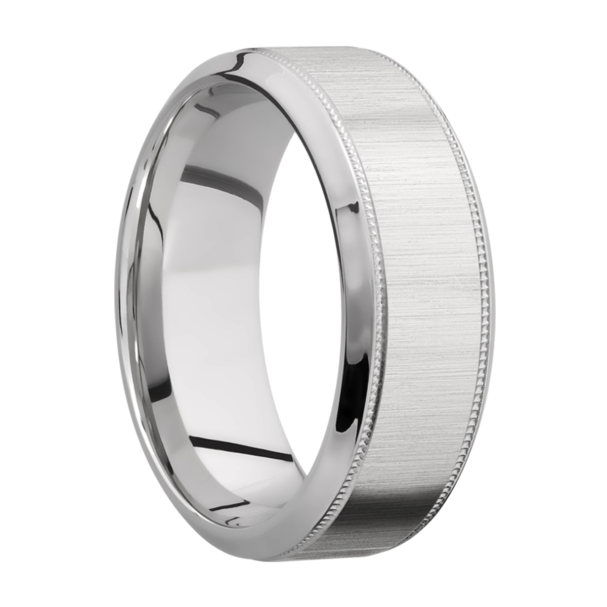 Lashbrook 8HB2UMIL Titanium Wedding Ring or Band Alternative View 1
